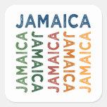 Jamaica Cute Colourful Square Sticker