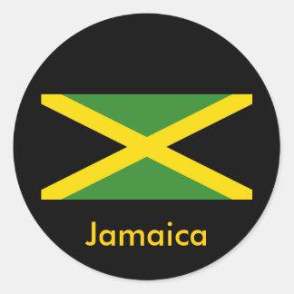 Jamaica designs classic round sticker