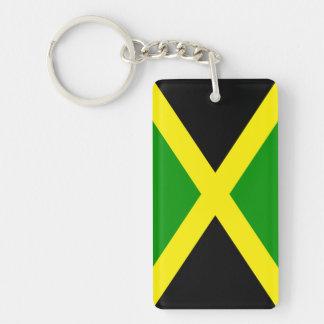 Jamaica Double-Sided Rectangular Acrylic Key Ring