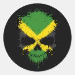 Jamaica Dripping Splatter Skull Sticker