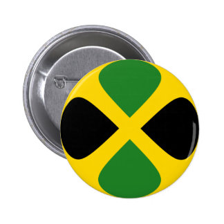 Jamaica Fisheye Flag Button