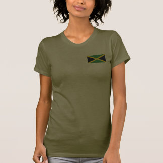Jamaica Flag and Map dk T-Shirt