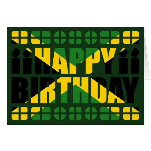 Jamaica Flag Birthday Card Zazzle