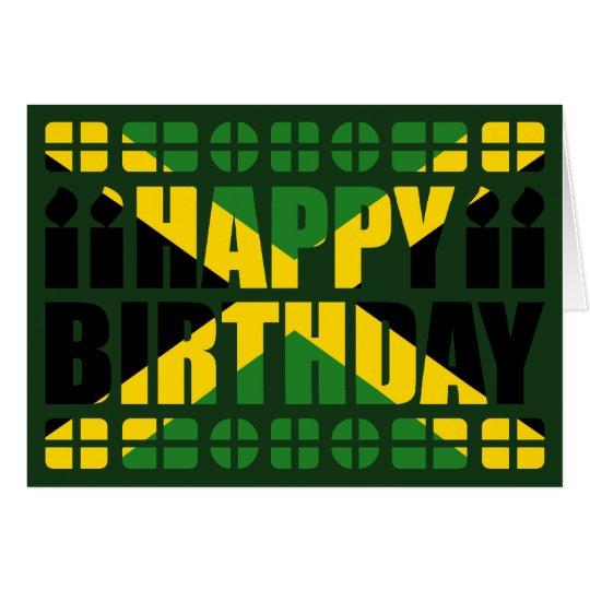 Jamaica Flag Birthday Card
