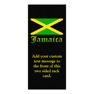 Jamaica Flag, Black, Green and Yellow Customized Rack Card