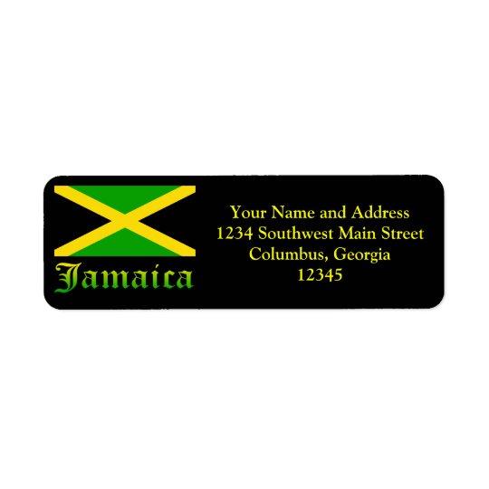Jamaica Flag, Black, Green and Yellow Return Address