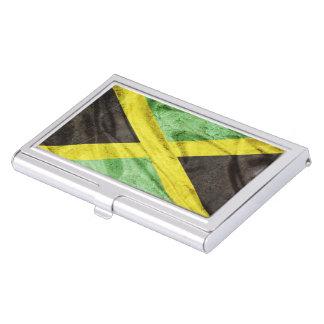 Jamaica flag business card holder