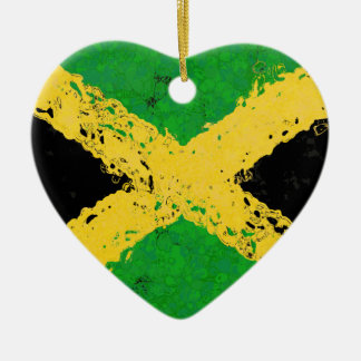 JAMAICA FLAG CHRISTMAS ORNAMENT