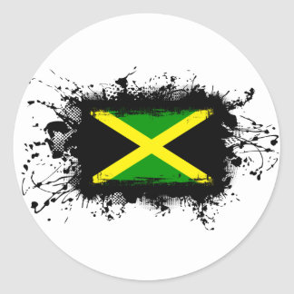 Jamaica Flag Classic Round Sticker