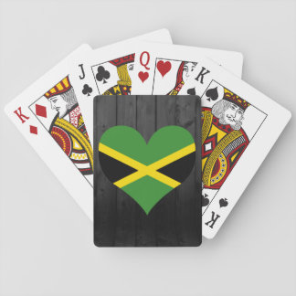 Jamaica flag colored playing cards