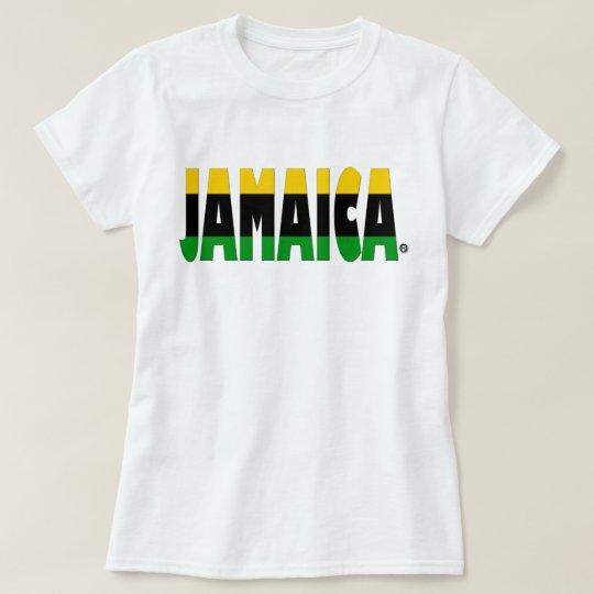 Jamaica Flag Colours Jamaican Stripe t-shirt, T-Shirt
