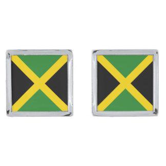 Jamaica Flag Cufflinks Silver Finish Cufflinks