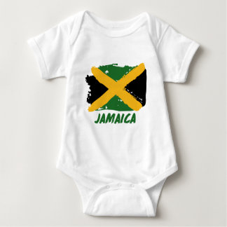 Jamaica flag design baby bodysuit