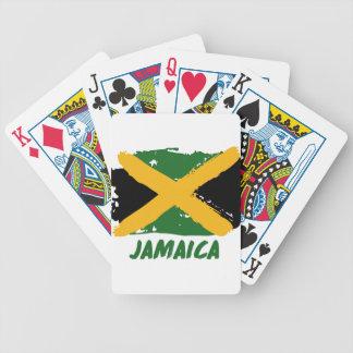 Jamaica flag design poker deck