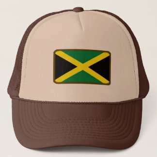 Jamaica flag embroidered effect hat
