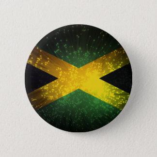 Jamaica Flag Firework 6 Cm Round Badge