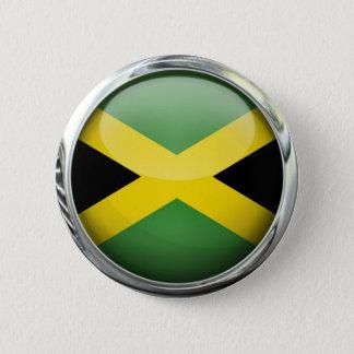 Jamaica Flag Glass Ball 6 Cm Round Badge