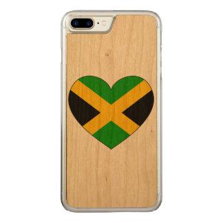 Jamaica Flag Heart Carved iPhone 8 Plus/7 Plus Case