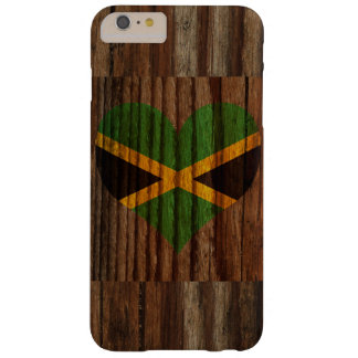Jamaica Flag Heart on Wood theme Barely There iPhone 6 Plus Case