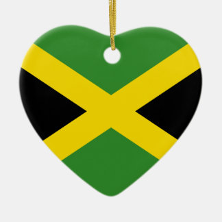 Jamaica Flag Heart Ornament
