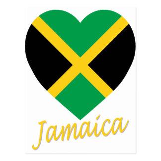 Jamaica Flag Heart Postcard