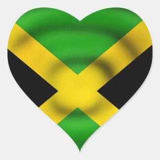 Jamaica Flag Heart-Shaped Sticker