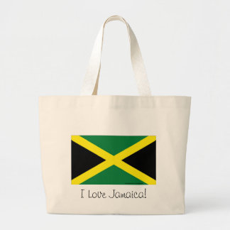 Jamaica flag large tote bag