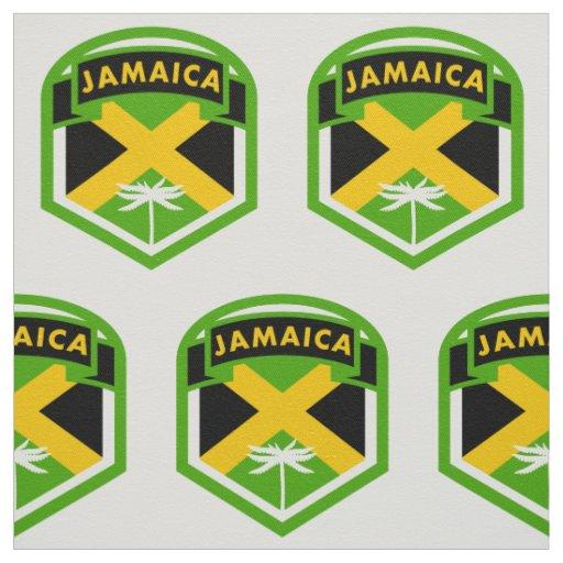 Jamaica Flag Logo Style Fabric