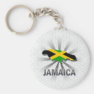 Jamaica Flag Map 2.0 Keychain