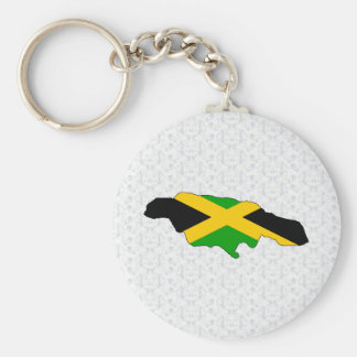 Jamaica Flag Map full size Keychains