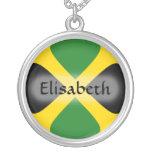 Jamaica Flag + Name Necklace