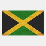 Jamaica Flag Rectangular Sticker