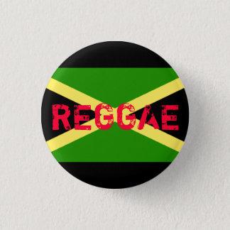 jamaica flag, REGGAE 3 Cm Round Badge