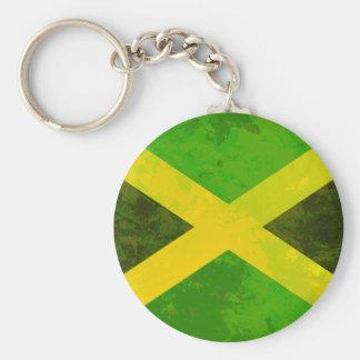 jamaica flag - reggae roots basic round button key ring