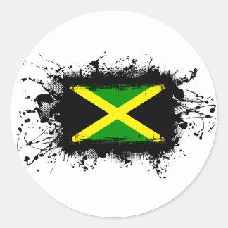 Jamaica Flag Round Sticker