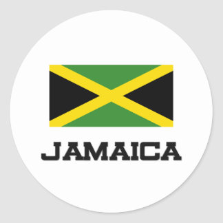 Jamaica Flag Round Sticker