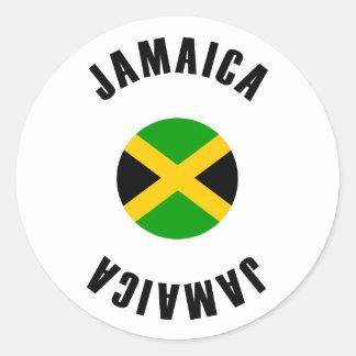 Jamaica Flag Simple Classic Round Sticker