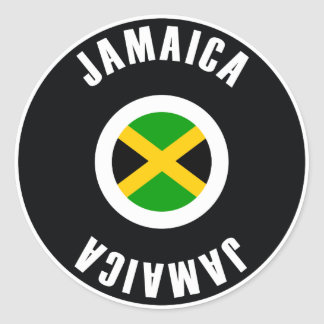 Jamaica Flag Simple Round Sticker