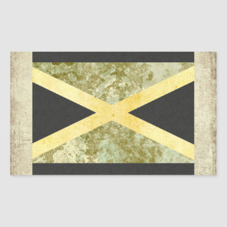 Jamaica  Flag Stickers Rectangle