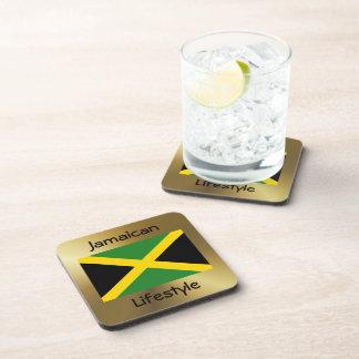 Jamaica Flag+Text Coaster