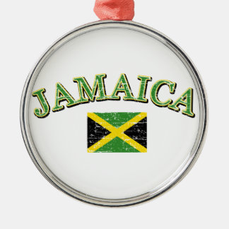 Jamaica football design christmas ornament