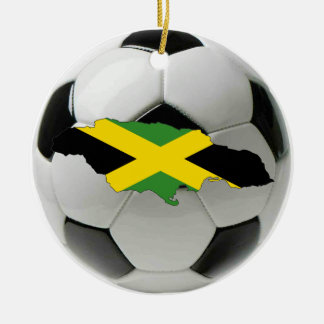 Jamaica football soccer ornament