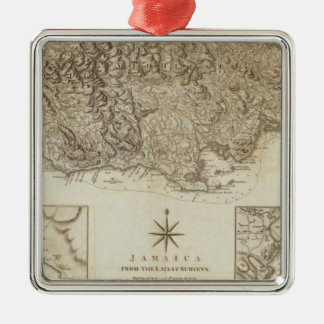 Jamaica from the latest surveys christmas ornament