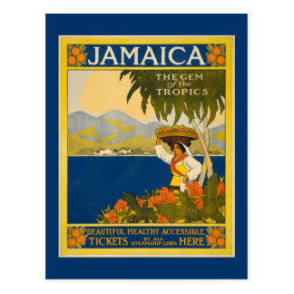 Jamaica - Gem of the Tropics (vintage poster) Postcard