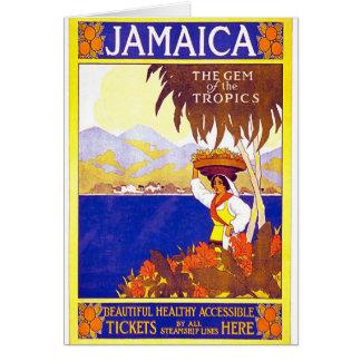 Jamaica Gem of the Tropics Vintage Travel Poster Card