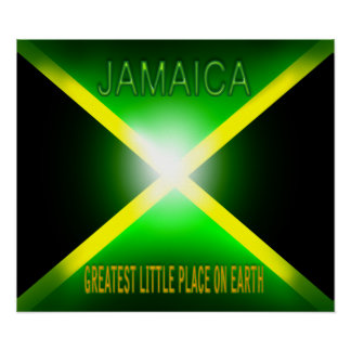 Jamaica Greatest Little Place on Earth Poster Pr