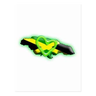 Jamaica (green heart) postcard