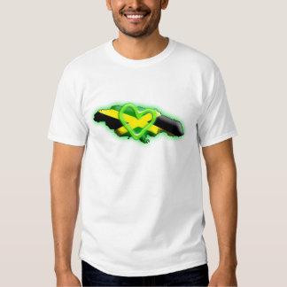 Jamaica (green heart) tshirt