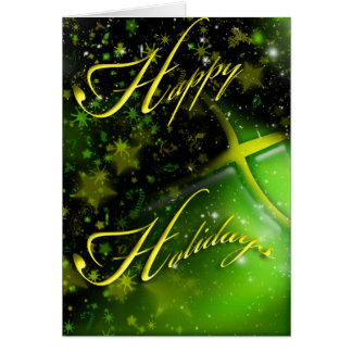Jamaica Happy Holidays Christmas Greeting Card