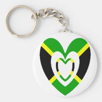 Jamaica Heart Keychain